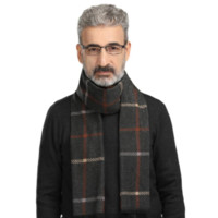 DISCOVER 締佳 男士仿羊絨圍巾 DJ-14 灰色條紋 180*35cm