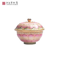上海博物馆 珠宝盒 008 粉彩莲花纹盖碗