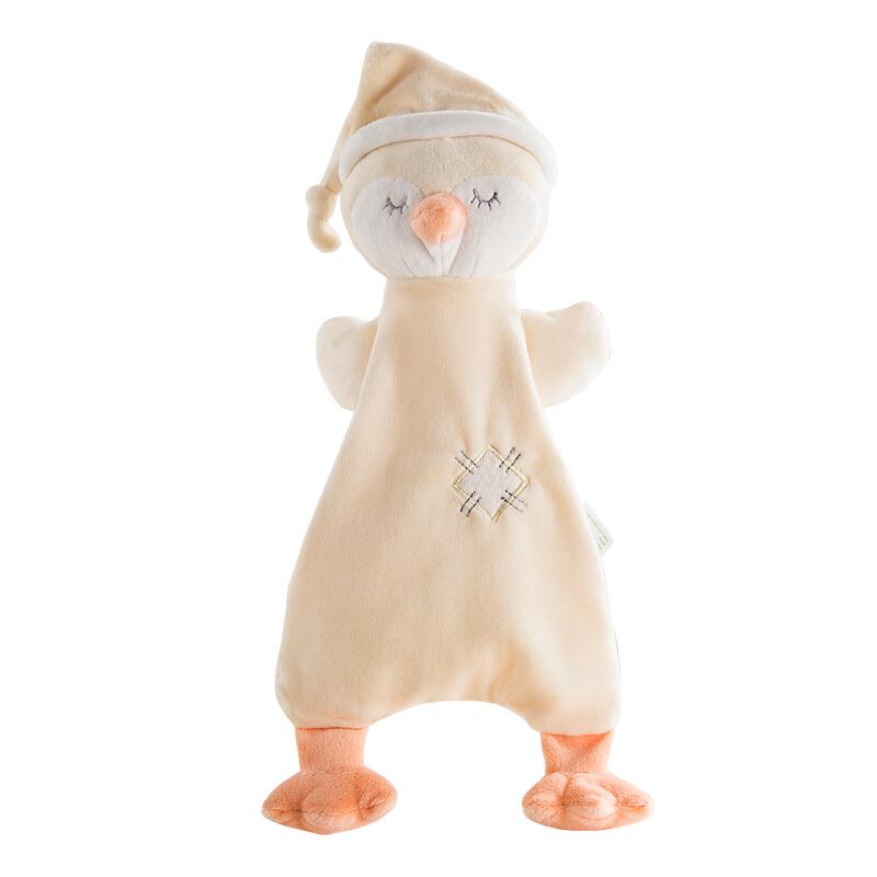 限地区 : 可优比(KUB) 婴儿口水巾毛绒玩具玩偶可入口咬宝宝安抚巾0-1岁睡眠团团鸡