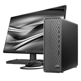 HP 惠普 惠普(HP)小欧S01商务办公台式电脑整机(十代i5-10400 16G 512SSD UMA Win10 注册五年上门)23.8英寸