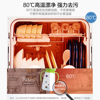 松下(Panasonic)NP-TH1 家用小型台式6套 桌上免安装独立式 洗烘存消毒一体