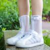 凡语季节 雨鞋套防水防雪防滑加厚耐磨雨天成人男女可爱儿童下雨防雨靴 白色 XL