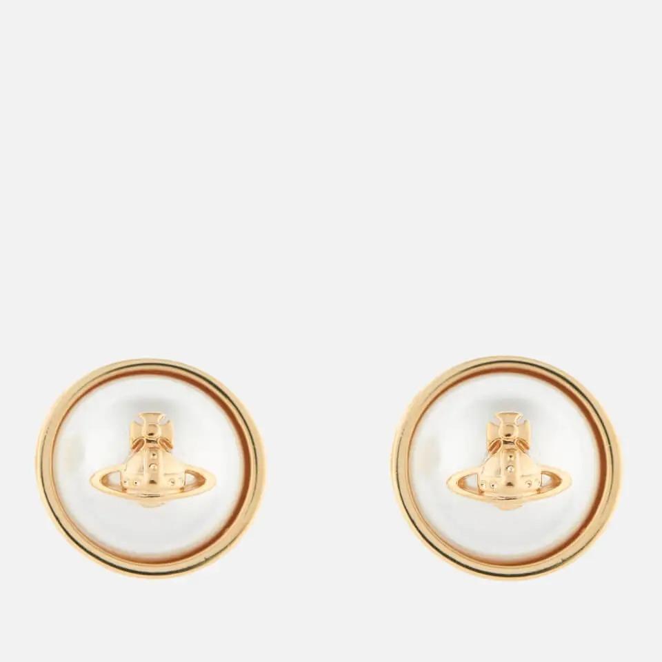 Vivienne Westwood Olga 珍珠黄铜耳环
