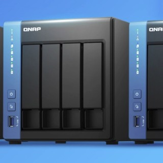 QNAP 威联通 TS-451D 4盘位NAS(J4025、2GB)