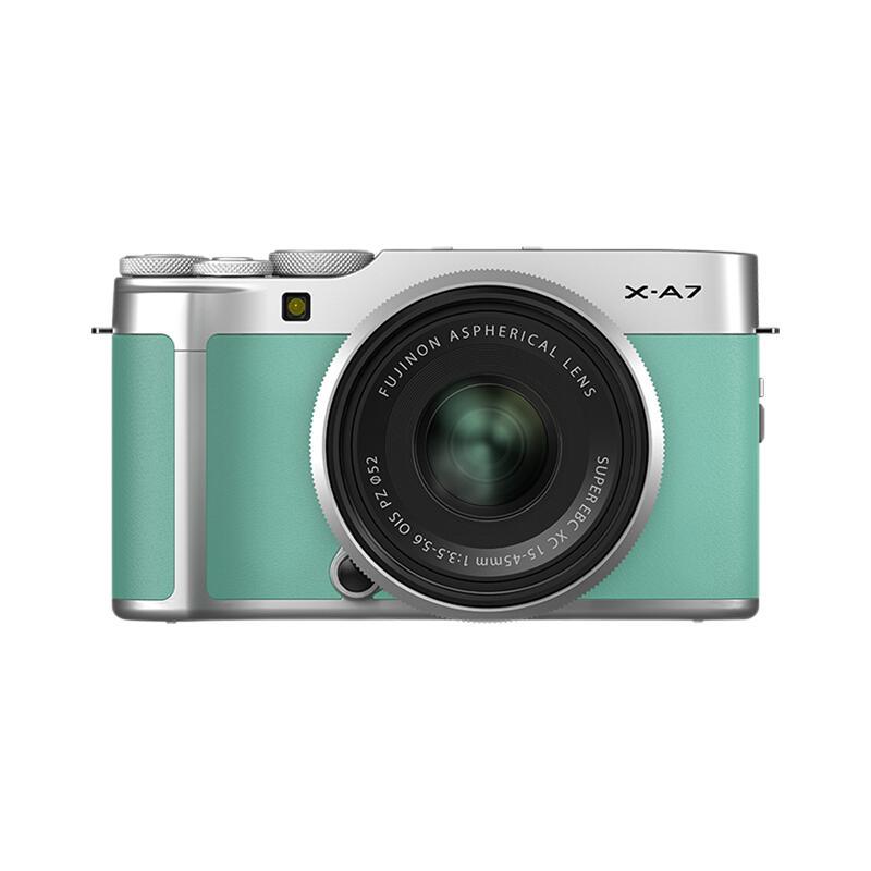 FUJIFILM 富士 X-A7 APS-C画幅 微单相机 薄荷绿 XC 15-45mm F3.5 OIS PZ 变焦镜头 单头套机