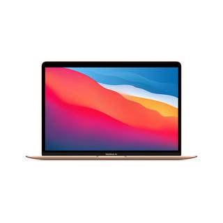 Apple 苹果 Apple MacBook Air 13.3 新款8核M1芯片(8核图形处理器) 8G 512G SSD 金色 笔记本电脑 MGNE3CH/A