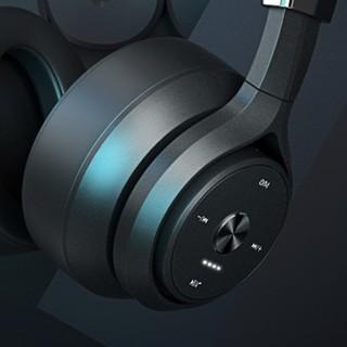 picun 品存 P28S 耳罩式头戴式蓝牙降噪耳机 磨砂黑