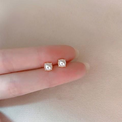 复古珍珠耳环少女感仙气质纯银耳钉高级感耳环耳饰
