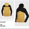 诺诗兰GORE-TEX冲锋衣男三合一可拆卸加绒加厚抓绒内胆 GS085505 羚羊色/纯黑色 M