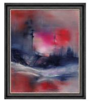 雅昌 熊宁辉《莫扎特的柔板》75×91cm装饰画 油画布