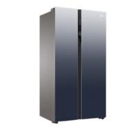 Haier 海尔 BCD-601WDCE 风冷对开门冰箱 601L 布朗灰+深海篮