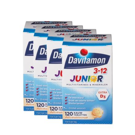 Davitamon 儿童复合维生素咀嚼片(3岁以上)120粒*4