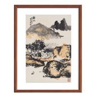 雅昌 朱屺瞻《归帆》70×47cm装饰画 宣纸