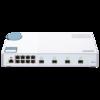 QNAP 威联通 QSW-M408S Web管理型交换机 (4端口10GbE光纤、8*1GbE网口)