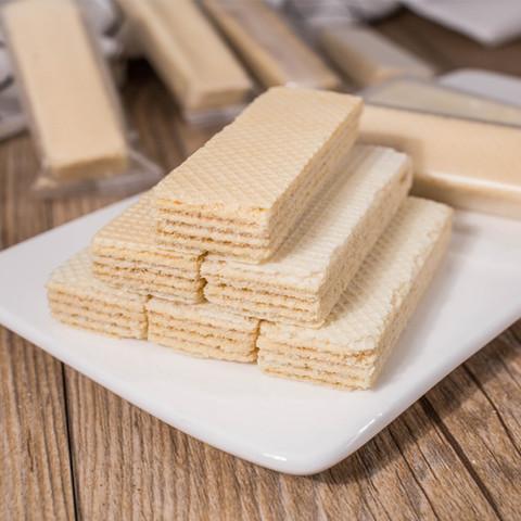 豆乳威化饼干脂卡网红低零食充饥夜宵办公室整箱散装非日本进口