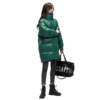 YAYA 鸭鸭羽绒服 女士中长款羽绒服 DRV26B002O 绿色 M