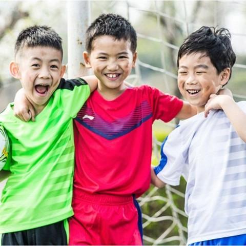 李宁儿童运动套装男女中小学生训练中大童夏季篮球足球服短袖