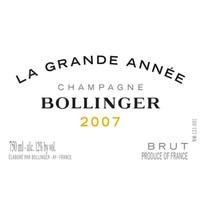 Champagne Bollinger 堡林爵香槟酒庄 堡林爵香槟酒庄干型香槟干型起泡酒 2008年