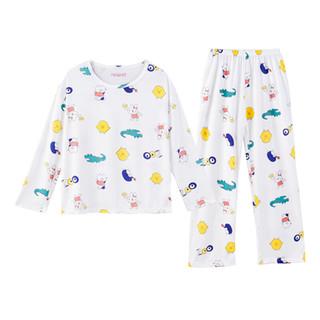 都市丽人睡衣女家居服可爱图案时尚软萌舒适柔软套头女士家居服套装DSH204 动物园 XL