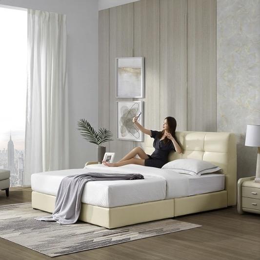 小编精选 : 一张好床,陪伴你每个日日夜夜——顾家家居 DK.B112 头层牛皮床