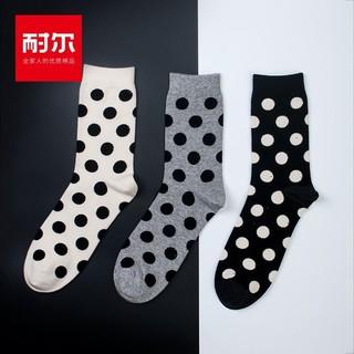 耐尔  K7113 男士潮流棉袜 3双装