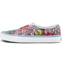VANS 范斯 经典系列 Authentic Where's Waldo联名款 中性运动帆布鞋 VN0A348A3RZ