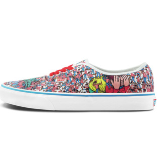 VANS 范斯 WHERE'S WALDO联名 Authentic VN0A348A3RZ 男女低帮帆布鞋