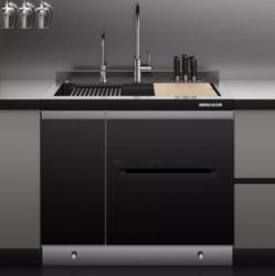 美仕杰 厨房集成模块化水槽洗碗机 900mm(不锈钢色标准款)