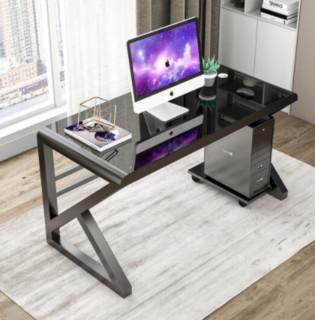 hommy 佳佰 DN7010 钢化玻璃电脑桌(带主机托)