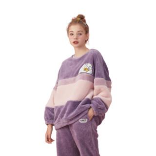 dingguagua 顶瓜瓜 男女款羊羔绒家居服套装 27016