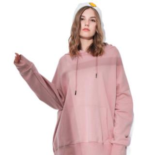 端木紫 女士中长款卫衣 71002 干枯玫瑰粉 M