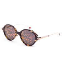 限新用户:Dior 迪奥 UMBRAGE-0X3TN-52  女士太阳镜 棕色框粉片 52mm