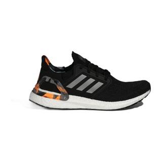 adidas 阿迪达斯 Ultra Boost 20 中性跑鞋 H67280 黑淡灰信号橙 37