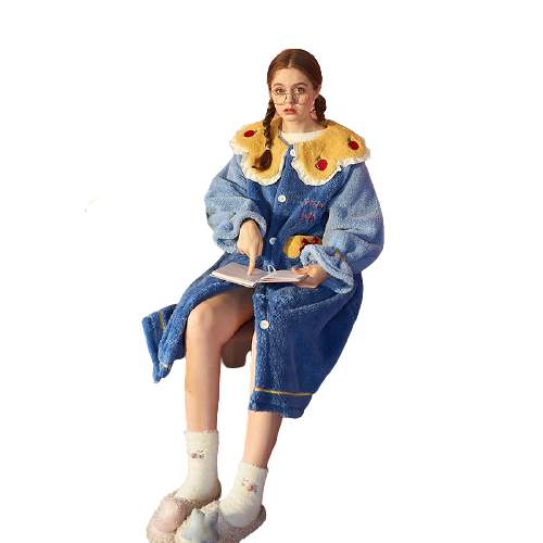 Gukoo 果壳 迪士尼联名系列 女士珊瑚绒睡袍 TEST200825YYL01