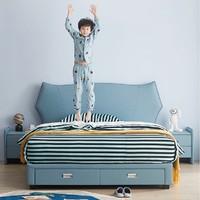 18日0点:ZUOYOU 左右家私 CHR006 汪星人 储物设计儿童床 1.2m