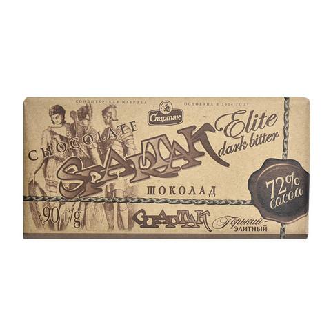 思巴达客 进口72%纯可可黑巧克力 90g