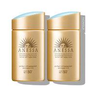 黑卡会员:ANESSA 安热沙 敏感肌系列 粉金瓶防晒霜 SPF50+/PA++++ 60g*2瓶装