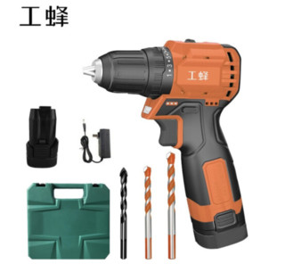 WORKERBEE 工蜂 GCS18-EC 家用多功能手钻工具箱套装