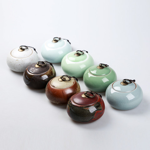 澜扬 粗陶茶叶罐 茶盒 多款可选