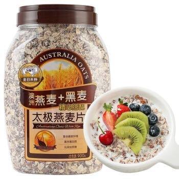 金日禾野 太极黑麦燕麦片 900g
