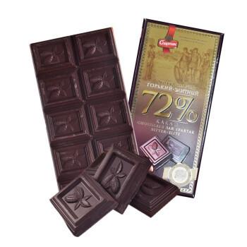 京东PLUS会员:思巴达客 俄罗斯72%精英巧克力 90g