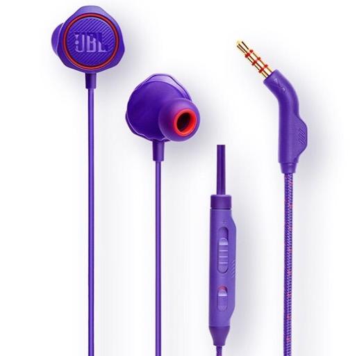 JBL 杰宝 QUANTUM50 有线游戏耳机笔记本电脑手机游戏入耳式耳机塞带麦Q50 蓝色