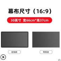 LEJIADA 乐佳达 L8 抗光幕布 软幕 30英寸(16:9)