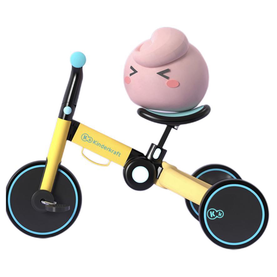 KinderKraft 可可乐园 儿童无推杆三轮车 乌尔姆黄