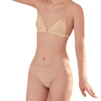 JINSANTA 金三塔 窃春季系列 女士桑蚕丝三角内裤 NZFBA209 蜂蜜色 XL