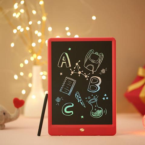 京东京造 液晶手写板 儿童绘画板涂鸦电子写字板 10英寸彩虹笔迹 红色礼品装