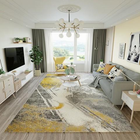 地毯地垫 新中式简约现代轻奢茶几沙发客厅地毯