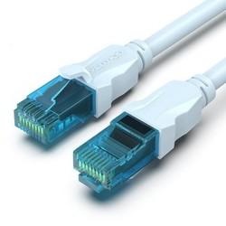 威迅 超五类百兆网线 冰蓝圆线 1m