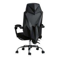 PLUS会员:HBADA 黑白调 HDNY133 尼龙五爪电脑椅 黑色无脚托