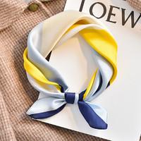 春季丝巾小方巾女款洋气时尚百搭长条丝巾